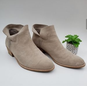 Dolce Vita Shoes - Dolce Vita Charee Tan Suede Ankle Bootie 9.5
